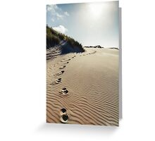 NEW ZEALAND:FOOTSTEPS IN THE SAND Greeting Card