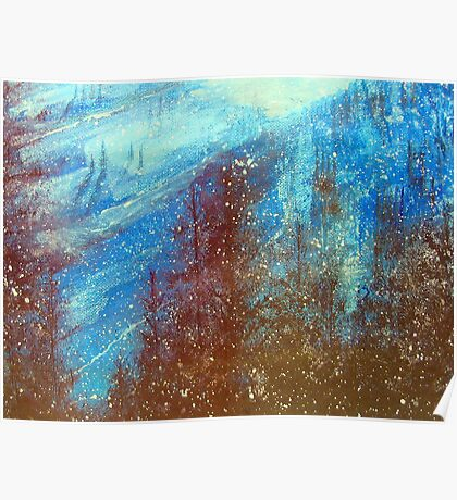 Snowmass   Blue On Blue      ( My Paintings ) Poster
