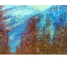 Snowmass   Blue On Blue      ( My Paintings ) Photographic Print