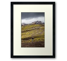 ICELAND:THE HIKER Framed Print