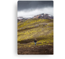 ICELAND:THE HIKER Canvas Print