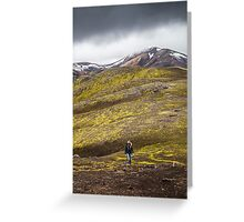 ICELAND:THE HIKER Greeting Card