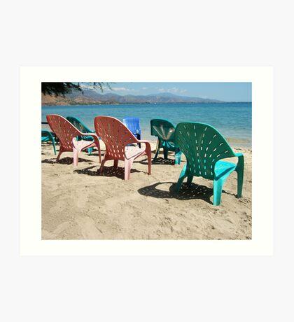 Life's a beach in Timor-Leste Art Print