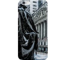 Another Cold Cold Day On Wall Street iPhone Case/Skin
