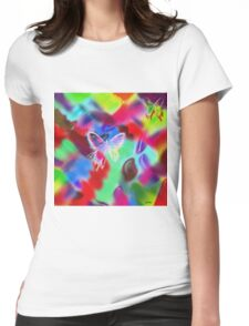""""""" Butterfly, this folded love letter looks for an address of flower. """" Womens Fitted T-Shirt"""