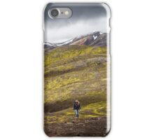 ICELAND:THE HIKER iPhone Case/Skin