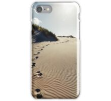 NEW ZEALAND:FOOTSTEPS IN THE SAND iPhone Case/Skin