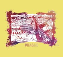 Prague skyline panorame Kids Clothes