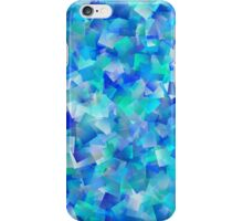 Abstract motley geometric background formed by blue, green and lilac quadrangles iPhone Case/Skin