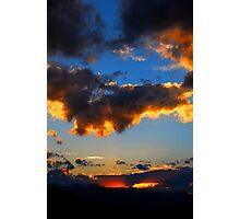 Clouds Holding the Sunset Photographic Print