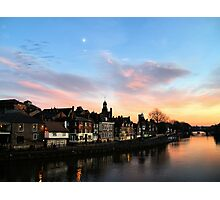 Sunset over King's Snaith Photographic Print