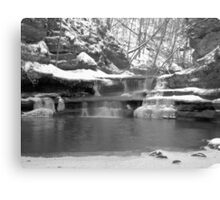 Frozen Nature Series - Bitter Falls Canvas Print