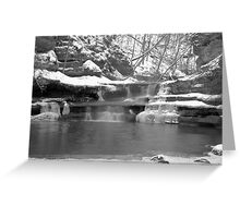 Frozen Nature Series - Bitter Falls Greeting Card