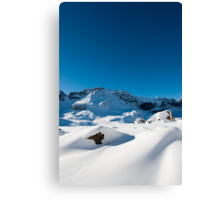 Mountain scenery at Melchseefrut Canvas Print