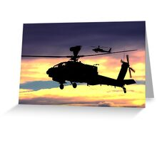 AugustaWestland Apache AH.1 Helicopters Greeting Card