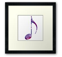 Watercolor Eighth Framed Print