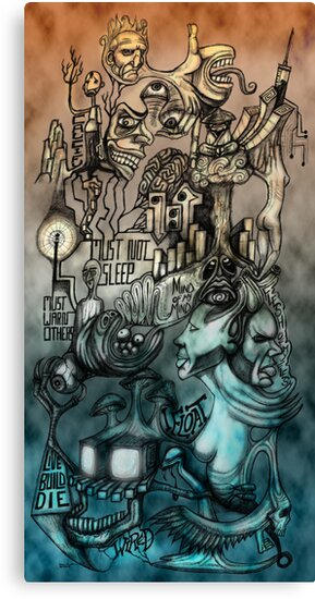 Accretion Mural (Self Portrait Aug-Oct '08) by DaveGerhart