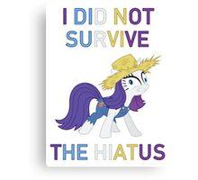 I Did Not Survive The Hiatus Canvas Print