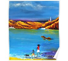 Fun Day Acrylic painting Poster