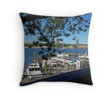 Marina at Riverside Park, Upper West Side, NY Throw Pillow