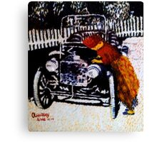 Iya Ojo cranks up her model T-Ford Canvas Print