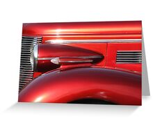 Buick Street Rod Front Profile, Lincoln City Car Show Greeting Card
