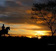 Sunset Rider by WJPhotography