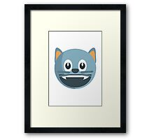 Smiling Cat Face With Open Mouth EmojiOne Emoji Framed Print