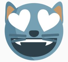 Smiling Cat Face With Heart-Shaped Eyes EmojiOne Emoji Kids Clothes