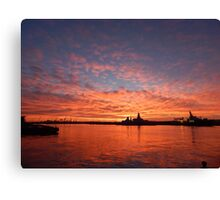 River Tyne @ Sunset Canvas Print