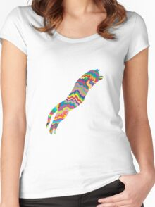 Psychedelic Cat Women's Fitted Scoop T-Shirt