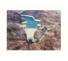 Hover Dam, Lake Meade, Nevada Art Print