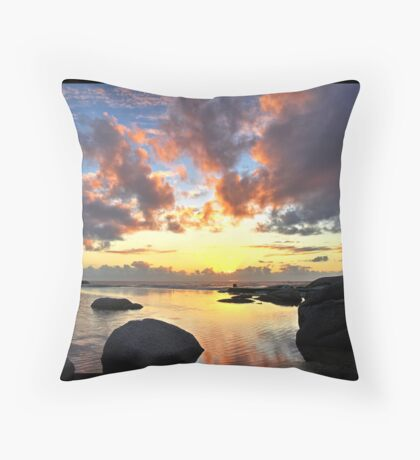 Cape Town Sunset Throw Pillow