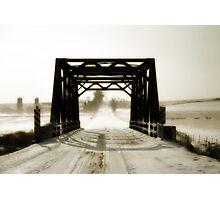 Wintery Bridge Photographic Print