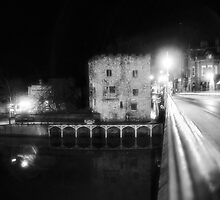Water tower and traffic by clickinhistory