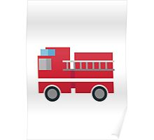 Fire Engine EmojiOne Emoji Poster