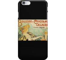 'Biscuits and Chocolat Delacre' by Privat Livemont (Reproduction) iPhone Case/Skin