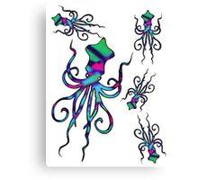 Colourful Squids   Fill Canvas Print