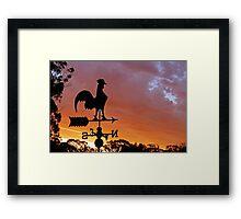 Sunset Silhouette 03 Framed Print