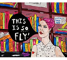 This is SO Fly! Lady at the Library Photographic Print