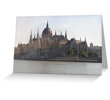 Parliament building in Budapest Greeting Card