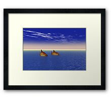 Two Fish in the Sea Framed Print