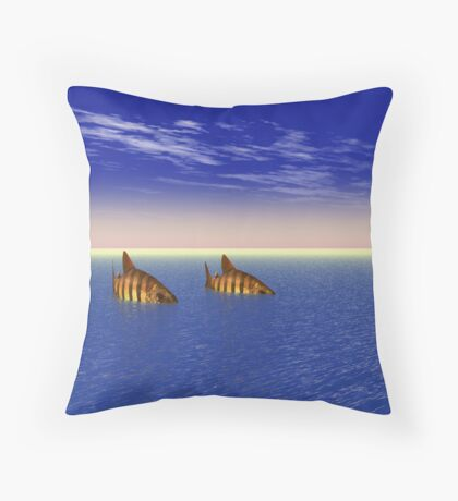 Two Fish in the Sea Throw Pillow