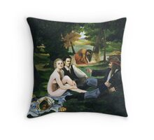 Pirate Luncheon in the Grass Throw Pillow