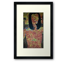 burning woman Framed Print