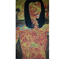 burning woman Photographic Print