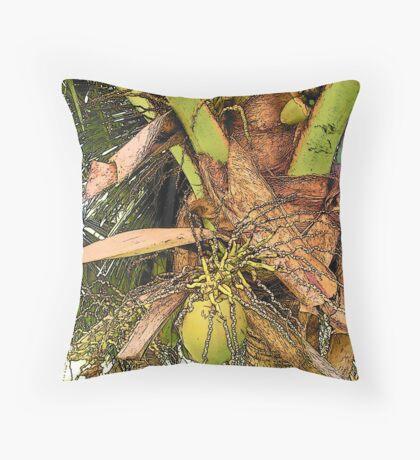 Coconut flavor Throw Pillow