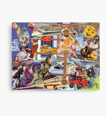 Tourist Guide Chart. Canvas Print