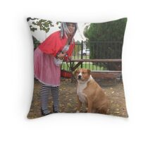 Red Tames The Wolf Throw Pillow