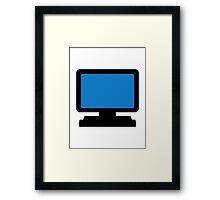 Monitor screen Framed Print